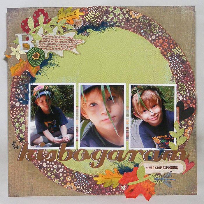 Hagyományos scrapbook oldal: Kisbogaram| Budaházi Brigitta