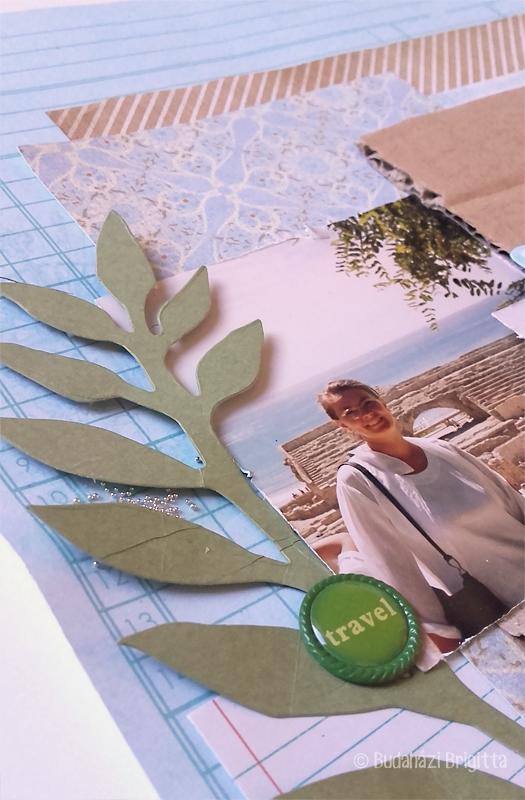 Kedvenc - hagyományos scrapbook oldal Budaházi Brigitta | Scrapbook.hu januári vázlatkihívás inspiráció