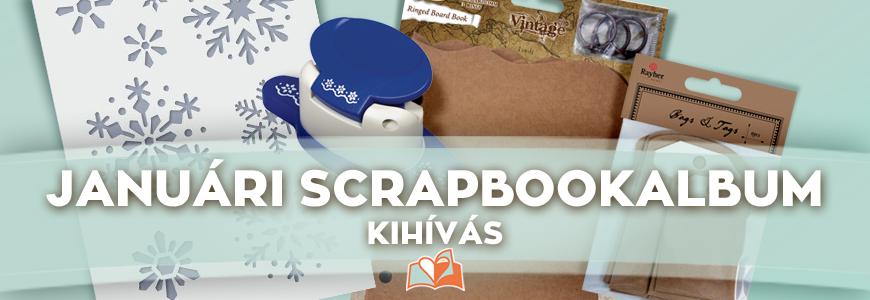 Januári scrapbook album kihívás | Scrapbook Webáruház