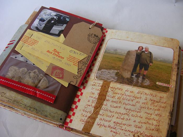Scrapbook minialbum: Dublin 4   Budaházi Brigitta