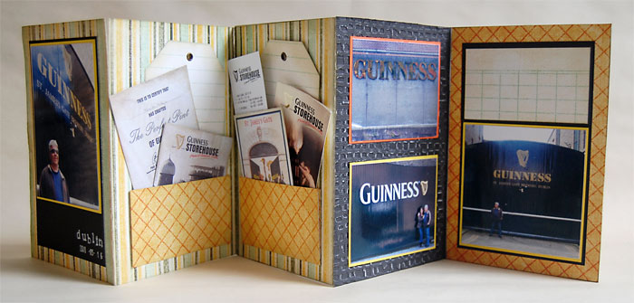 Hagyományos scrapbook minialbum: Guiness   Budaházi Brigitta