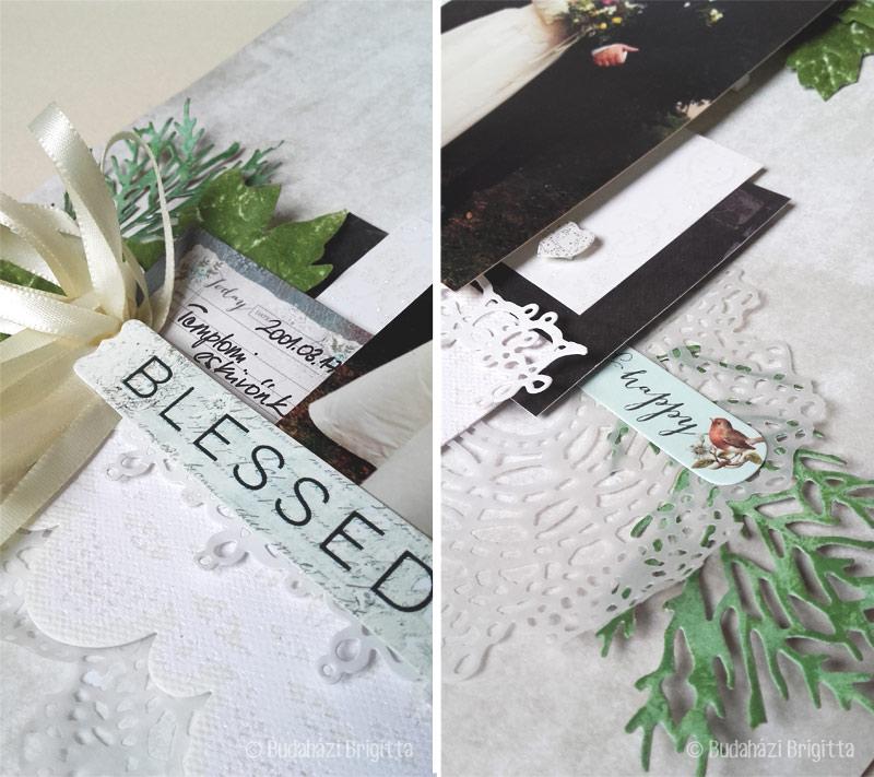 Hagyományos scrapbook: Blessed (Áldott) | Scrapbook.hu Márciusi vázlat kihívás Inspriáció