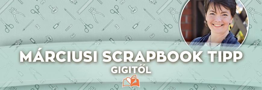 Papír varrás scrapbook oldalon | Scrapbook tipp Gigitől