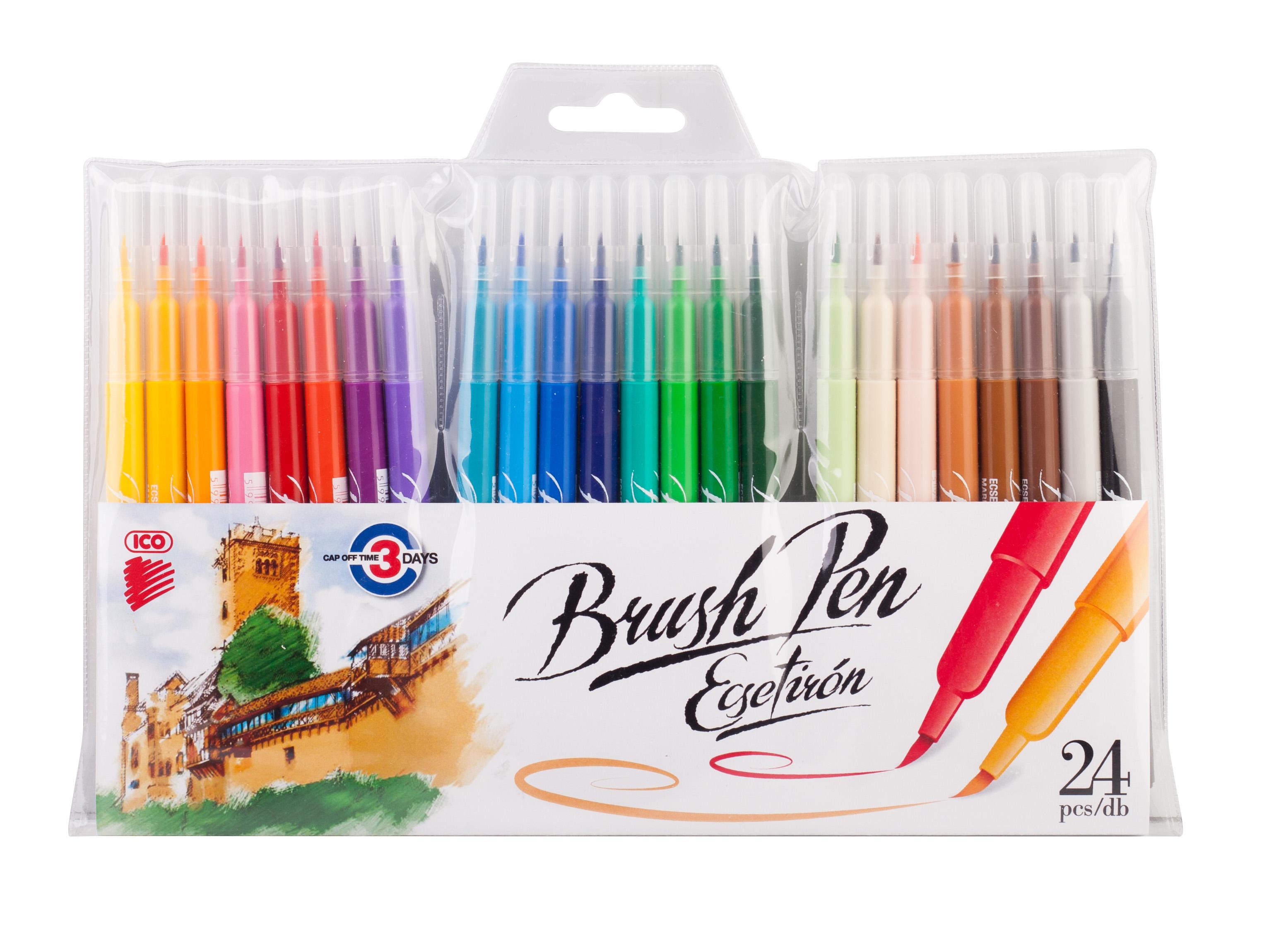 ICO Ecsetfilc készlet 24-színű | Scrapbook Webáruház
