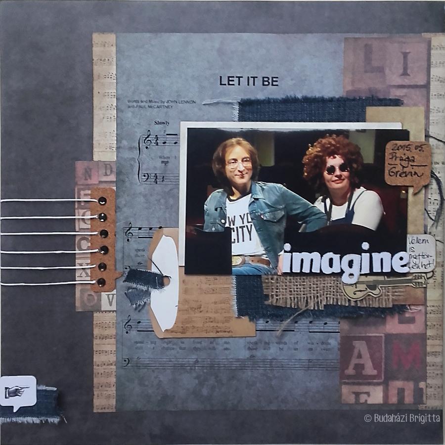 Imagine - Budaházi Brigitta | Scrapbook.hu Áprilisi vázlatkihívás inspiráció