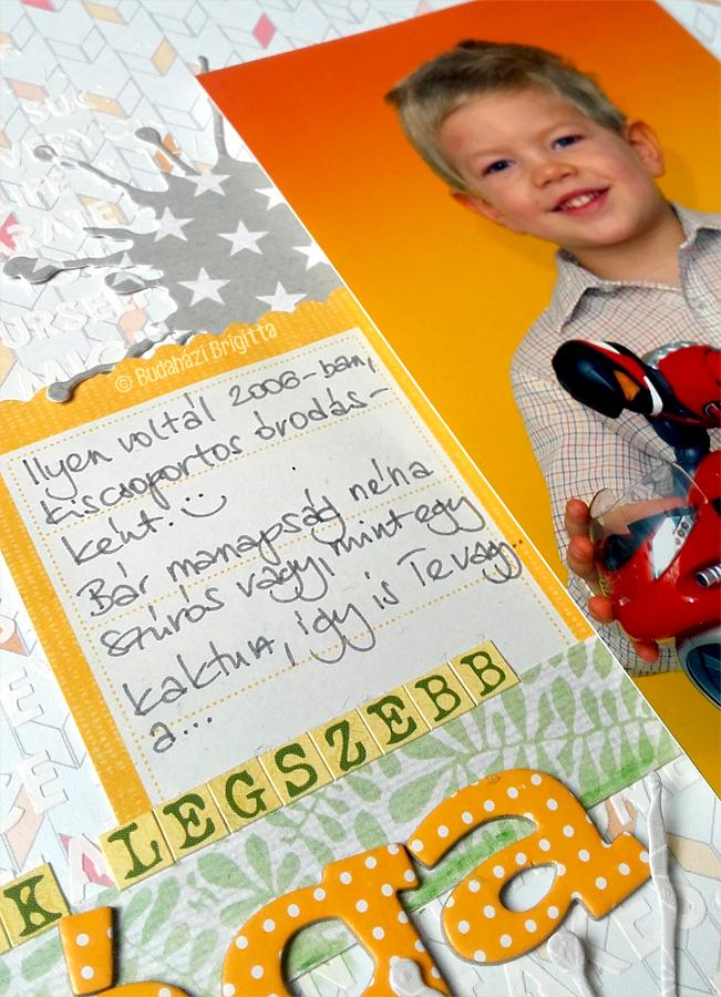 Kertem egyik legszebb virága - hagyományos scrapbook oldal Budaházi Brigitta | Scrapbook.hu májusi vázlatkihívás inspiráció