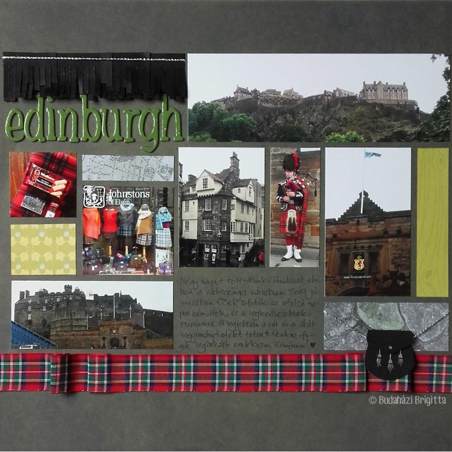 Edinburgh - Budaházi Brigitta | Scrapbook.hu júliusi vázlatkihívás inspiráció
