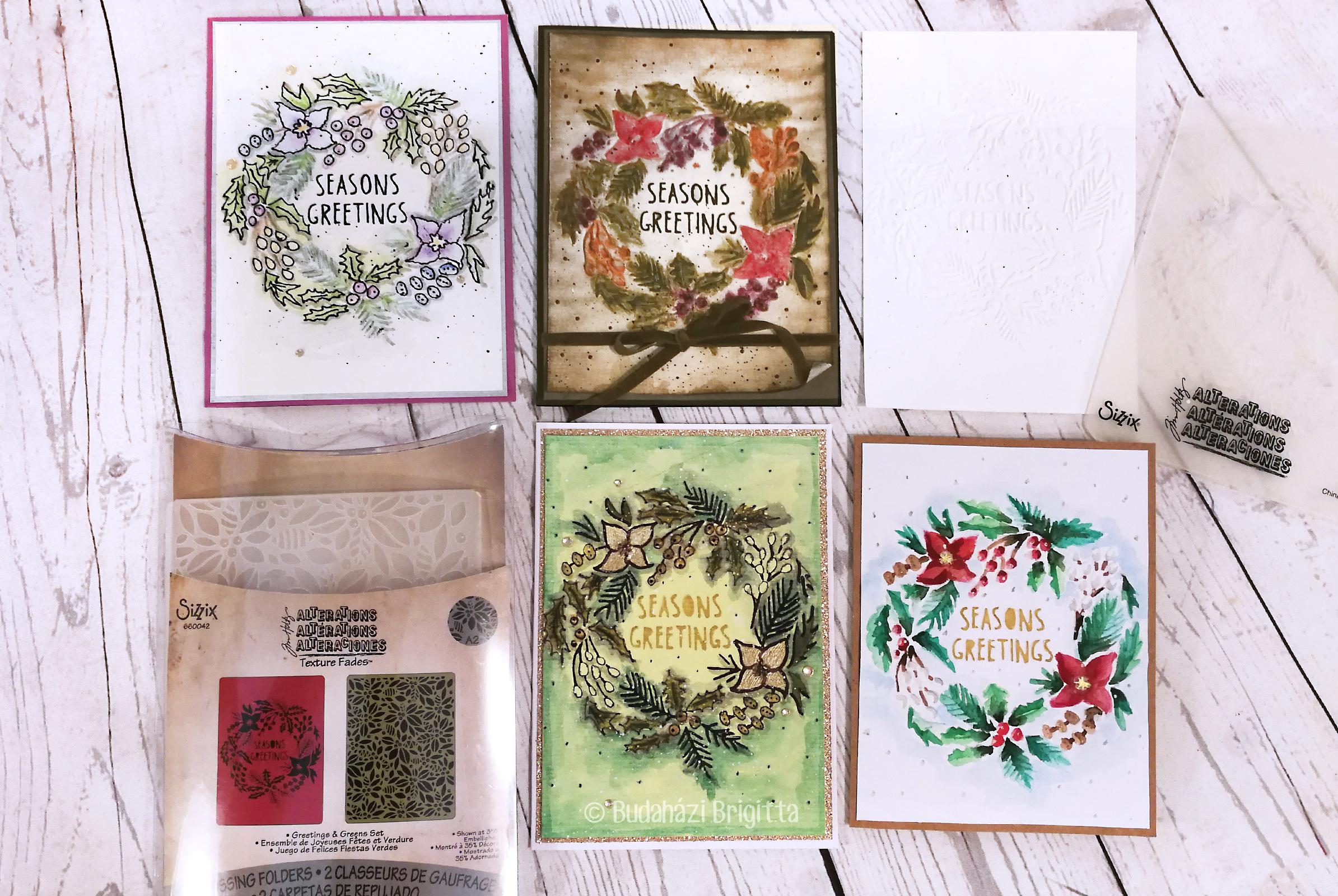 Domborított képeslapok színezése különféle technikákkal | Budaházi Brigitta - Scrapbook.hu