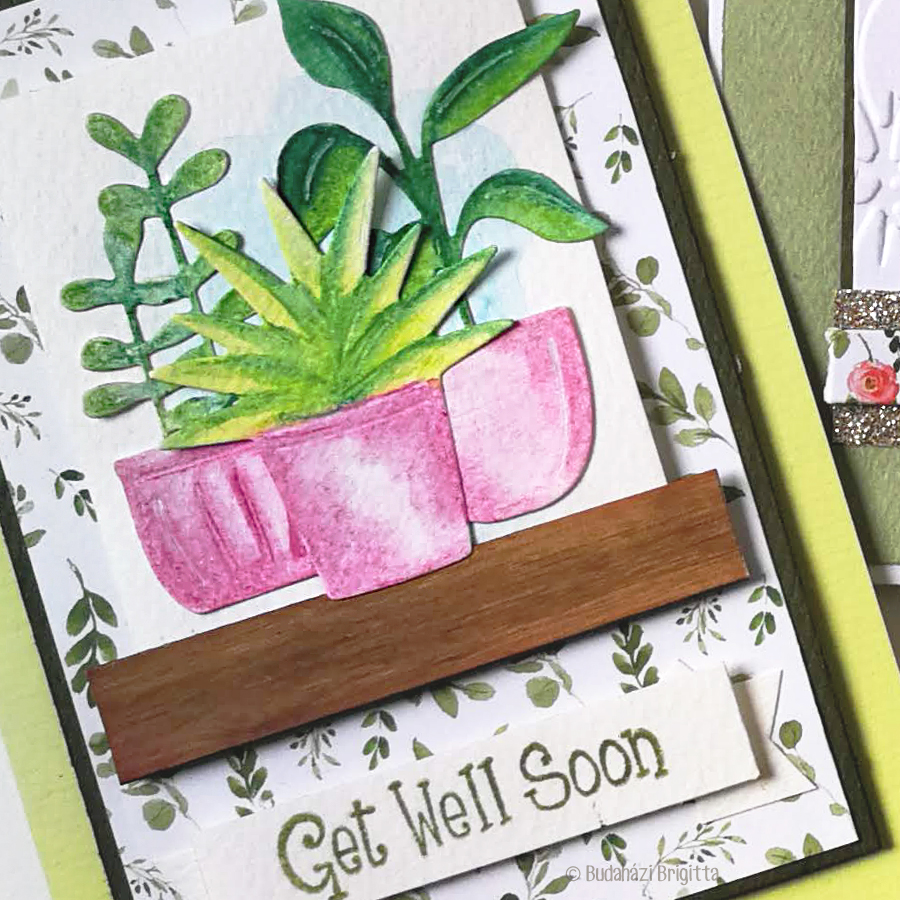 Részletfotó Get Well Soon Budaházi Brigitta: Sizzix kivágatokkal díszített képeslapok vegyes technikával