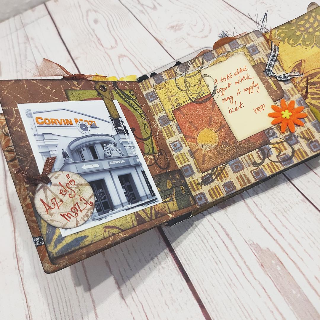 Scrapbook karácsony után | Budaházi Brigitta: Advent digitális scrapbook oldal