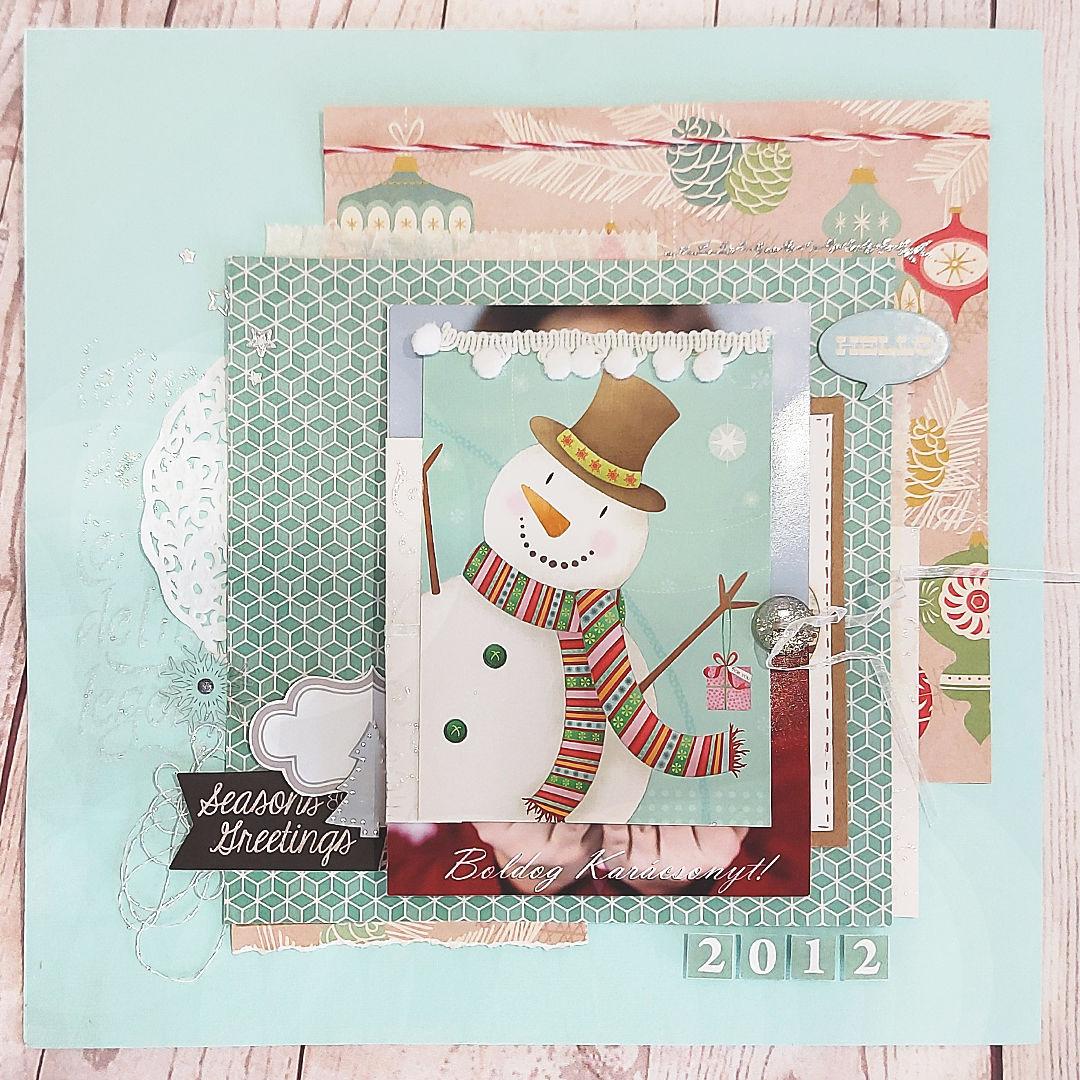 Scrapbook karácsony után | Budaházi Brigitta: Sesons Greetings 2012 - scrapbook oldal