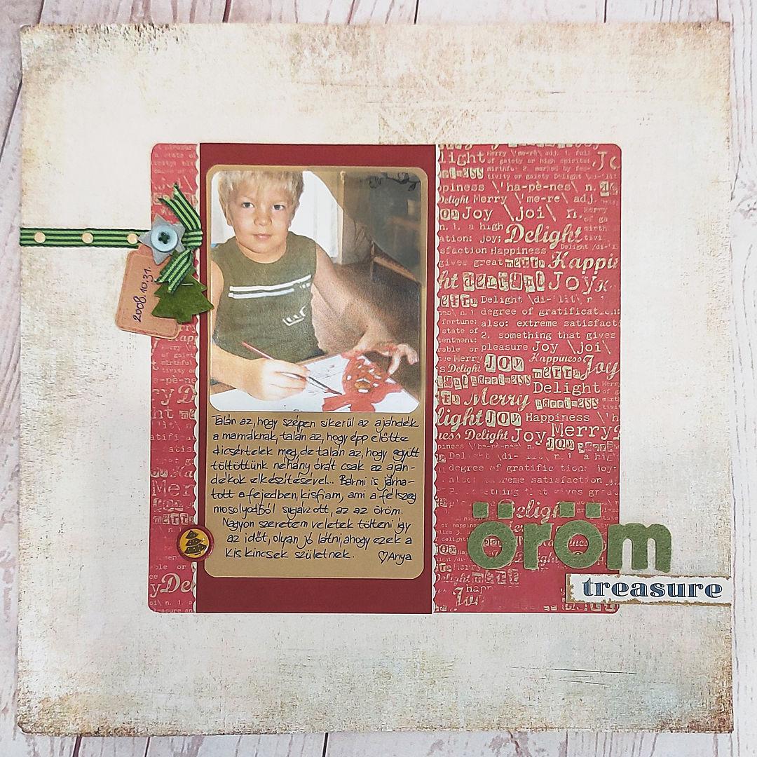 Scrapbook karácsony után | Budaházi Brigitta: Öröm - scrapbookoldal