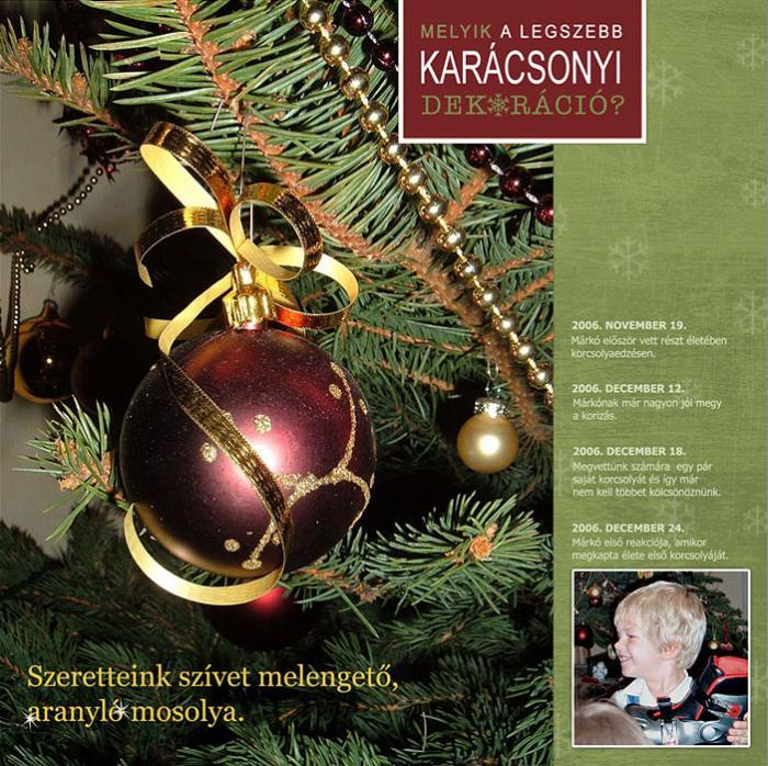 Scrapbook karácsony után | Budaházi Brigitta: Melyik a legszebb karácsonyi dekoráció? digitális scrapbook oldal