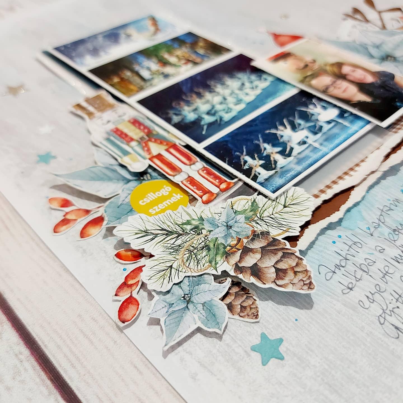Budaházi Brigitta: Veled | hagyományos scrapbookoldal