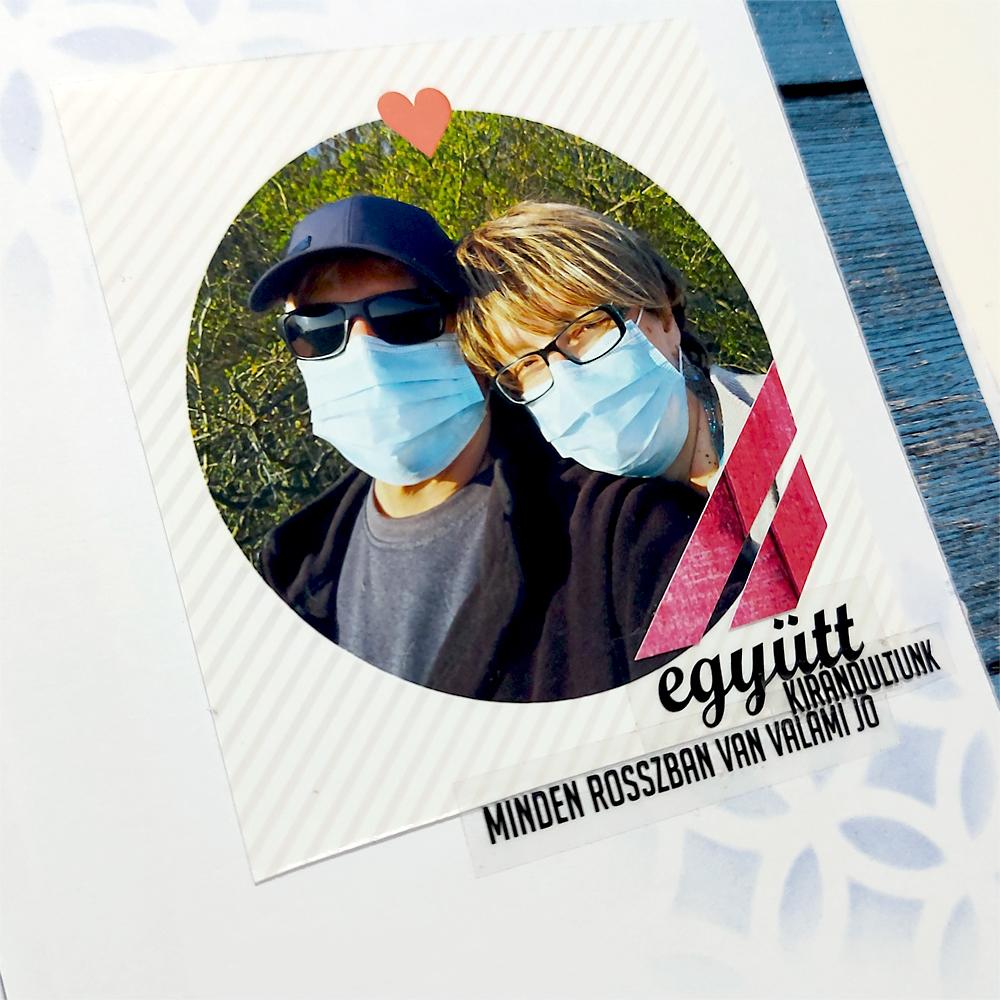 Budaházi Brigitta: Karantén krónikák | hagyományos scrapbook album