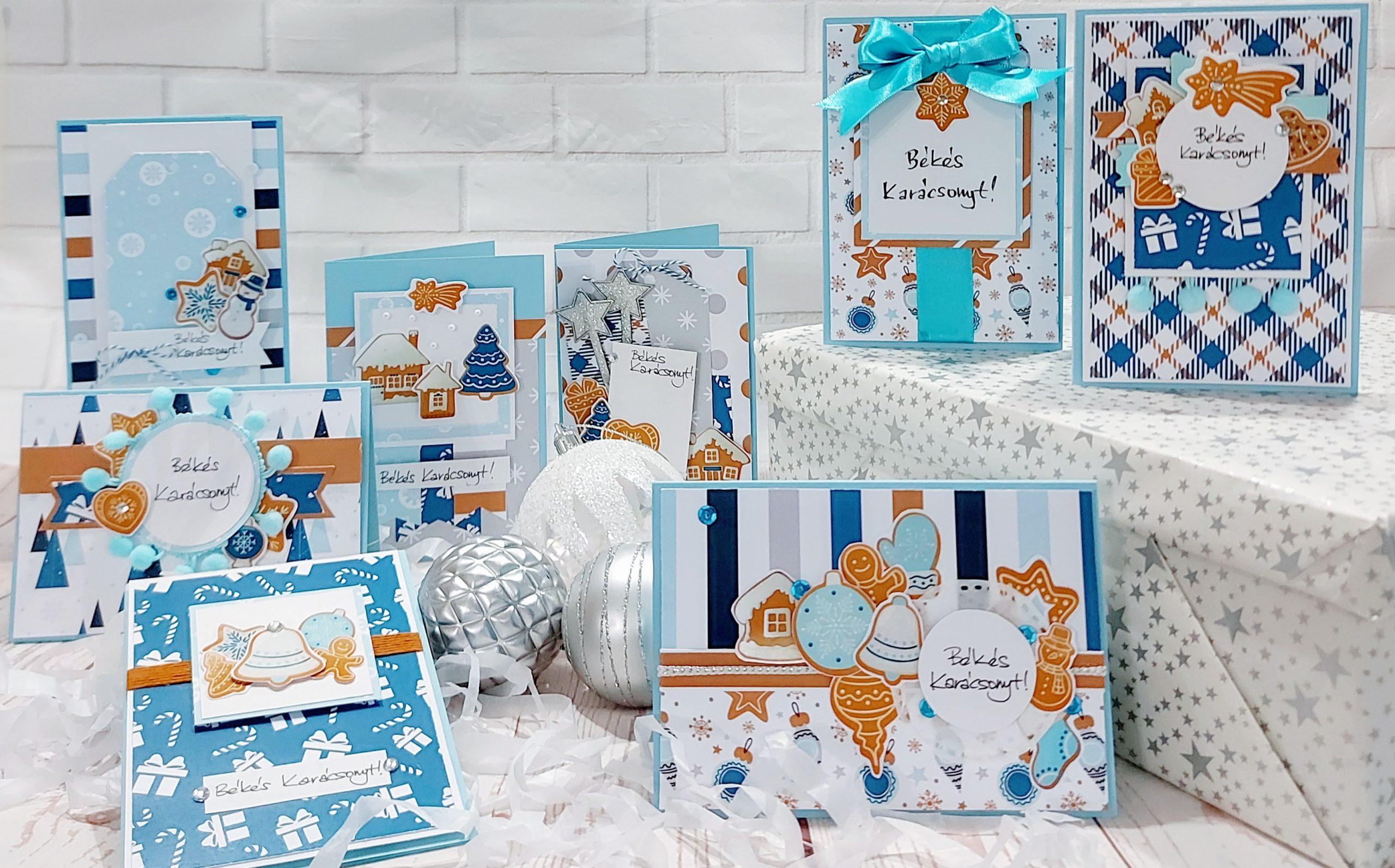 Budaházi Brigitta: Karácsonyi képeslapok - Mézeskalács scrapbook alkotócsomag